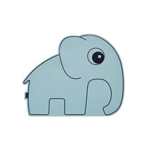 Blauwe placemat olifant
