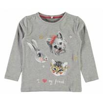 Name-it grijze meisjes t-shirt Dabina