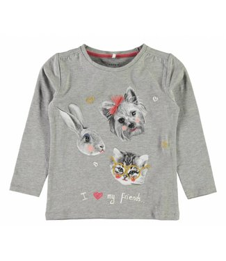 Name-it Name-it gray girls t-shirt Dabina