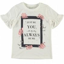 Name-it wiite meisjes t-shirt Jobila