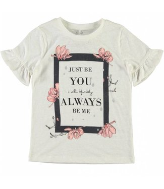 Name-it Name-it wiite meisjes t-shirt Jobila