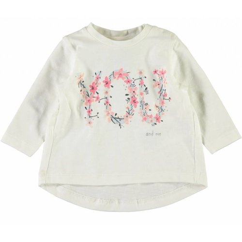 Name-it Name-it wiite meisjes t-shirt Darling