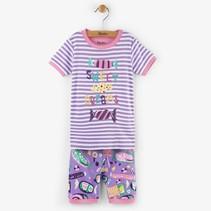 Hatley 2-delige korte pyjama Kitty candy