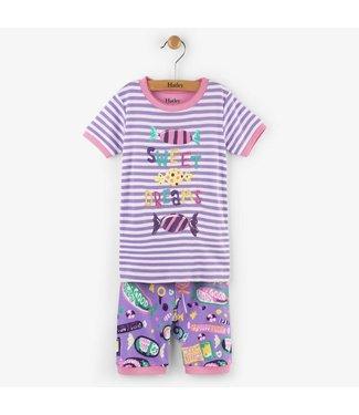 Hatley Hatley 2-delige korte pyjama Kitty candy