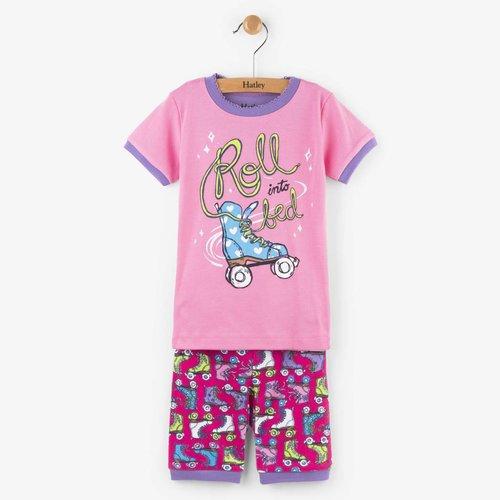 Hatley Hatley 2-delige korte pyjama Roller girl