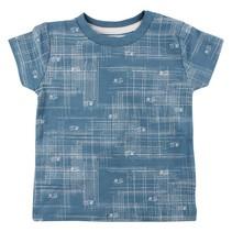 T-shirt arcering Aegean blue