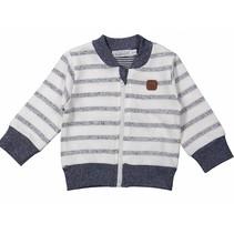 Jongens cardigan blue stripes