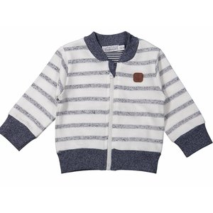 Dirkje kinderkleding Jongens cardigan blue stripes