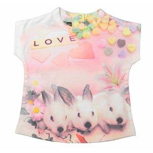 Dirkje kinderkleding Meisjes t-shirt bunny
