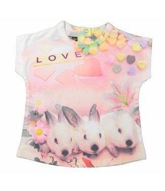 Dirkje kinderkleding Girls t-shirt bunny