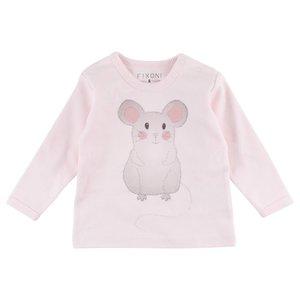 Fixoni Fixoni roze meisjes t-shirt muis