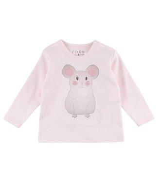 Fixoni T-shirt souris rose Fixoni souris