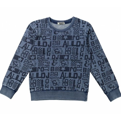 Dj Dutchjeans Dj dutchjeans blauwe jongens sweater body mind project