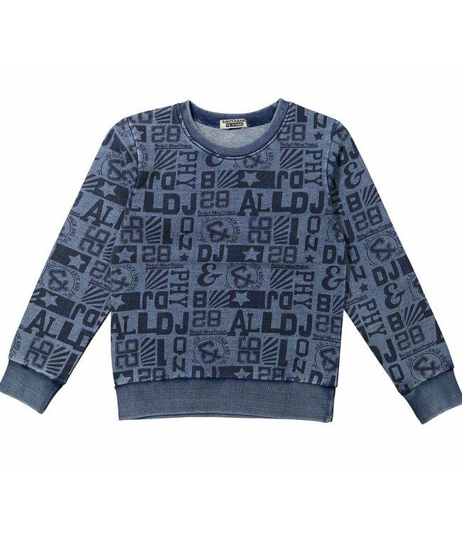 Dj Dutchjeans Dj dutchjeans blauwe jongens sweater body mind project