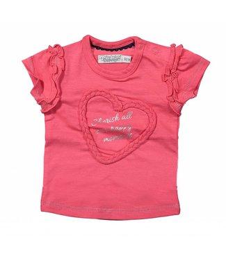 Dirkje kinderkleding Dirkje pink t-shirt Cherish moments
