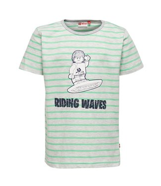 Lego wear Legowear T-shirt riding waves groen