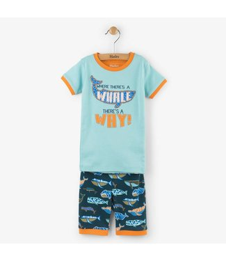Hatley Hatley 2-piece short pajama Whale pod