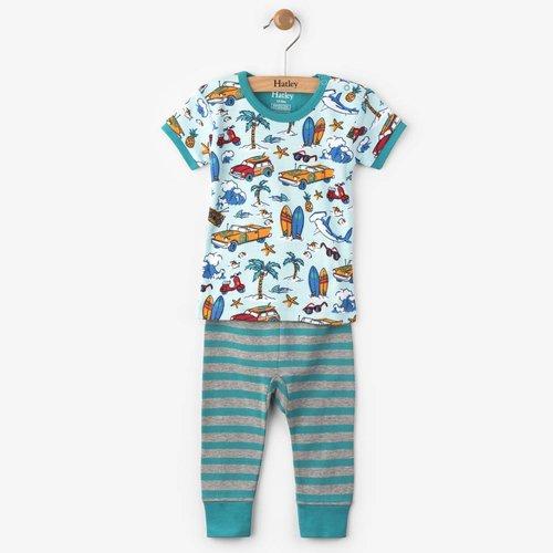 Hatley Hatley 2-delige pyjama surf island mini