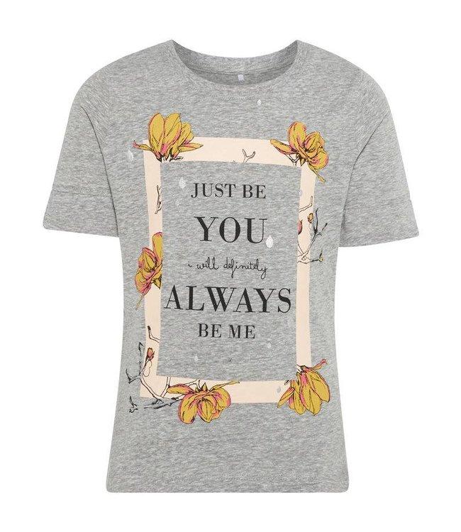 Name-it Name-it 't shirt Jobila Grey melange
