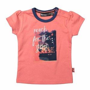 Dirkje kinderkleding Dirkje 't shirt Reach te stars - coral pink