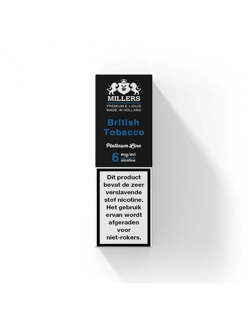 Millers platinum line Millers British Tobacco