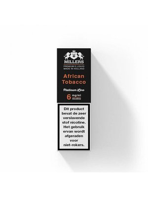 Millers platinum line Millers African tobacco