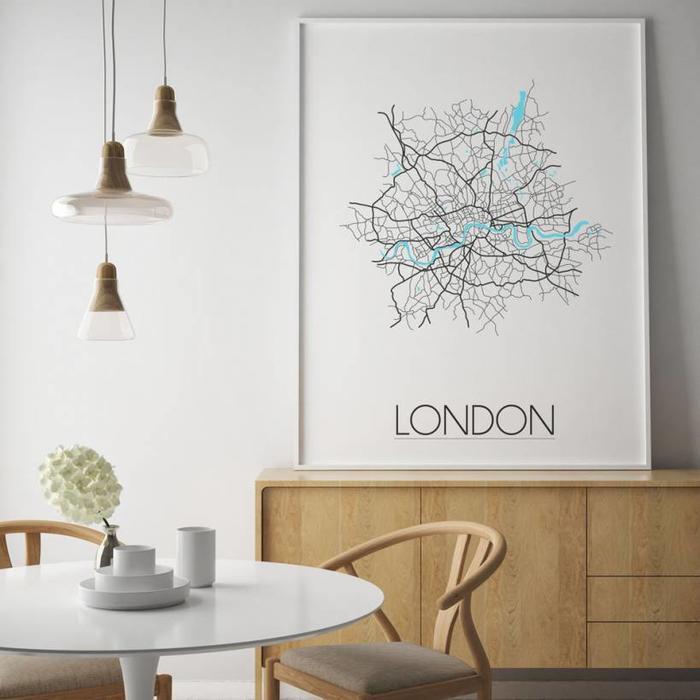 Stadskaart poster