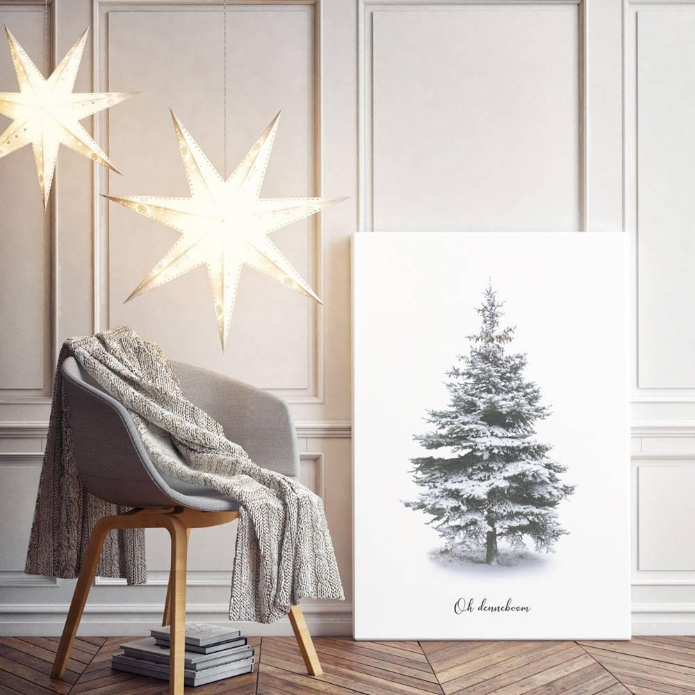 oh denneboom kerstboom poster merry christmas kerst poster interieur poster wanddecoratie
