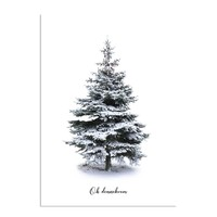 Oh Denneboom kerstboom poster - Merry Christmas - Kerst poster - Interieur poster - Wanddecoratie - Kerstboom