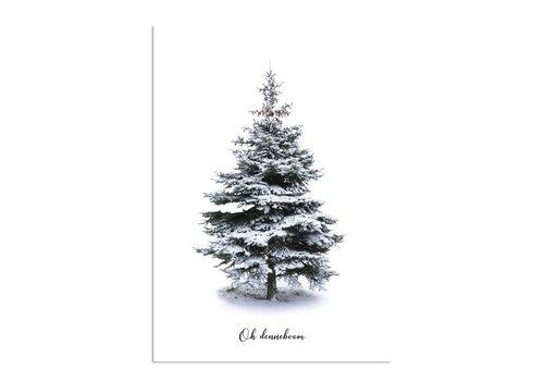 DesignClaud Oh Denneboom Weihnachtsbaumposter - Frohe Weihnachten - Weihnachtsposter - Innenposter - Wanddekoration - Weihnachtsbaum