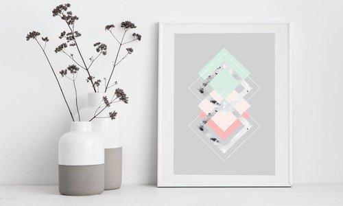 Nieuw: Geometrische interieur posters
