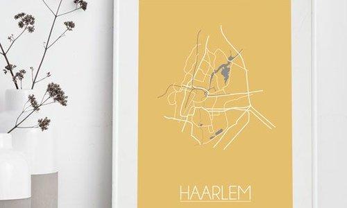 Stadskaart posters in nieuwe kleuren
