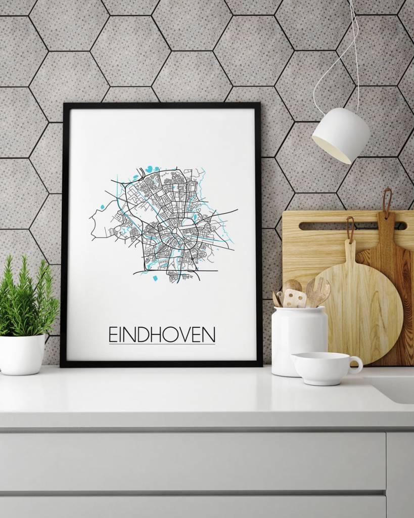 Eindhoven stadskaart plattegrond interieur poster for Interieur eindhoven