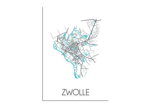 DesignClaud Zwolle Plattegrond poster