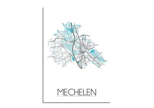 DesignClaud Mechelen Plattegrond poster