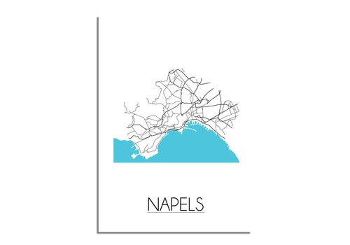 DesignClaud Napels Plattegrond poster