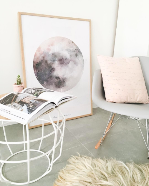 Kerst interieur en maan posters bij styled by eve for Eveline interieur