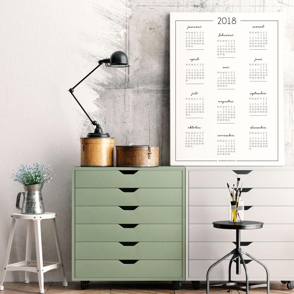 kalender-poster-zwart-wit