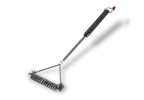 Weber Grill brush - 45cm Three Sided Stainless Steel Bristles