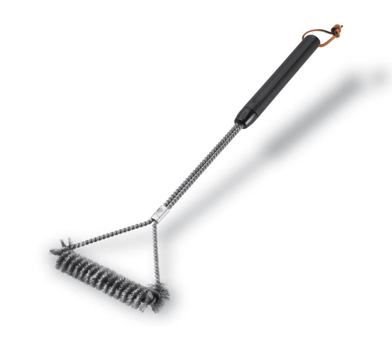 GRILL BRUSH - THREE SIDED, 53 CM, STAINLESS STEEL BRISTLES