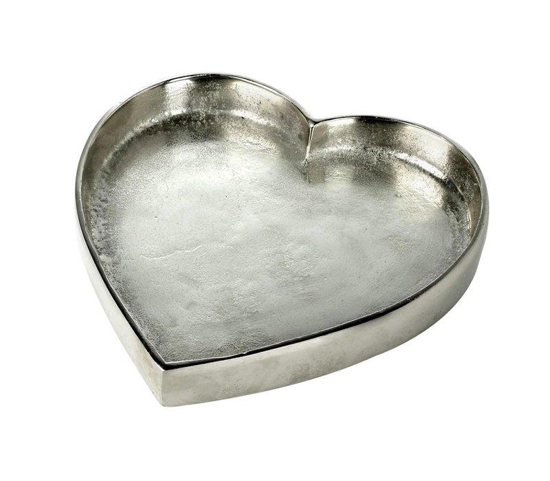TRAY HEART in Silver