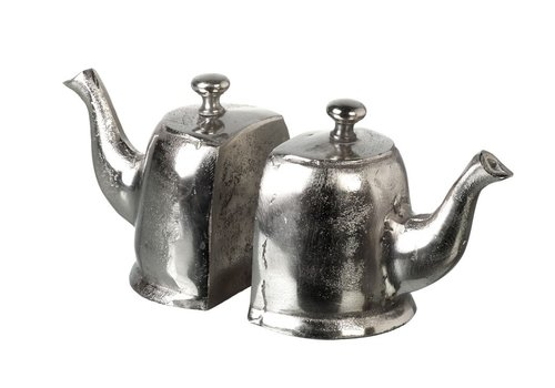 Homestore BOOKENDS TEAPOT in Silver - Set of 2