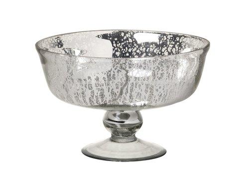 Homestore DISH MERCURY in GLASS ANTIQUE SILVER - Medium