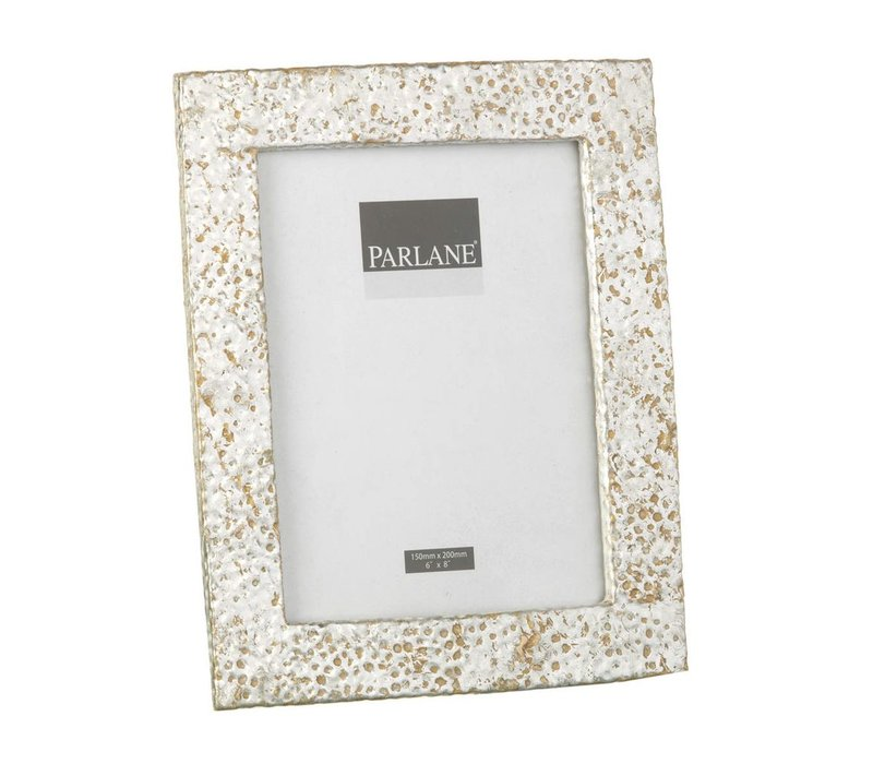 PHOTO FRAME HAMMERED SILVER H205X160mm