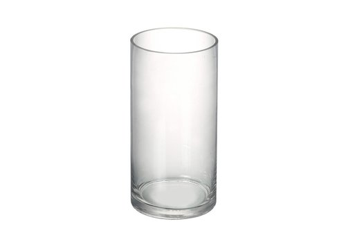 Homestore VASE CYLINDER in Clear Glass H200X100mm