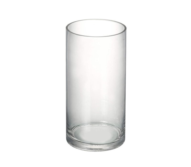 VASE CYLINDER in Clear Glass H200X100mm