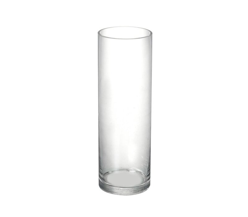 VASE CYLINDER in Clear Glass H300X100mm