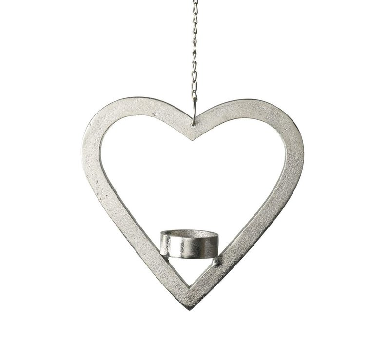 TEA-LIGHT HOLDER HEART HANGING