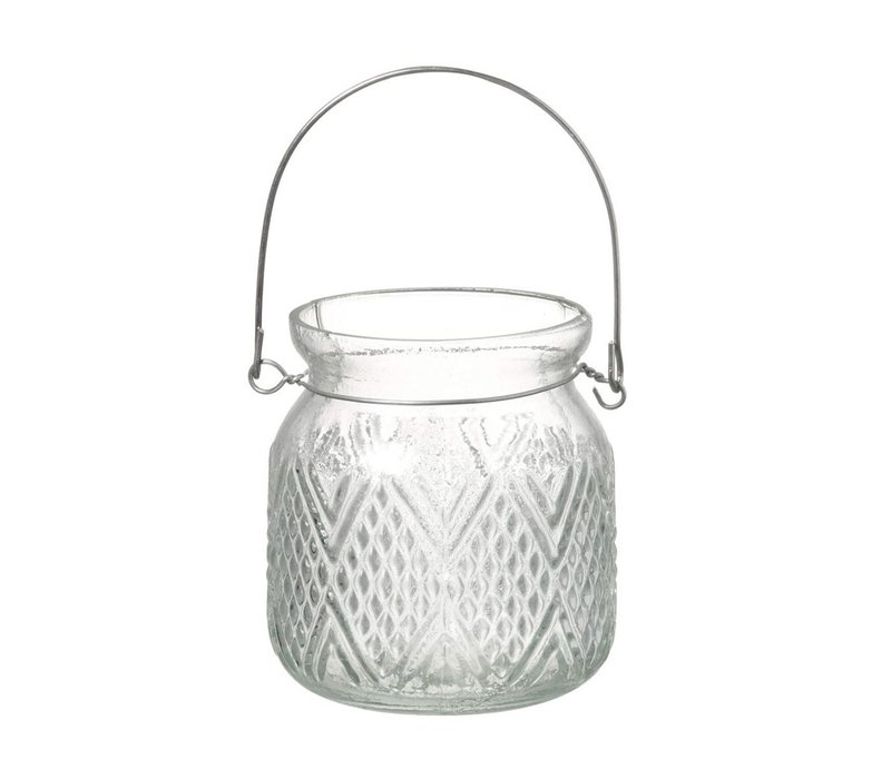 TEA-LIGHT HOLERD PATTERN with WIRE HANDLE
