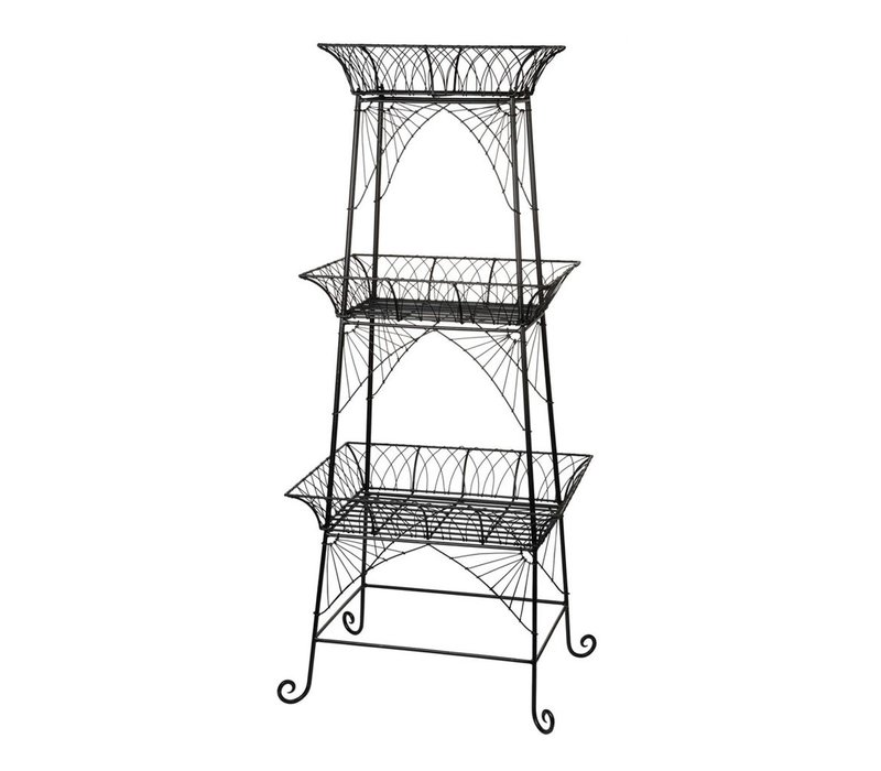 3 TIER STAND in METAL BLACK
